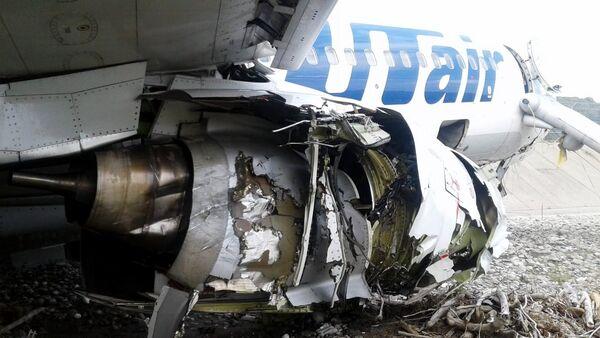 Аварийная посадка самолета авиакомпаниии Utair в Сочи - Sputnik Абхазия