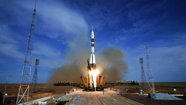 Запуск ТПК  Союз МС-09» с космодрома Байконур - Sputnik Аҧсны