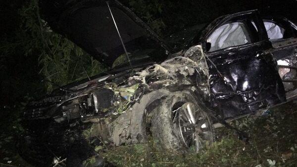 Фото с места ДТП, в результате которого погиб премьер-министр Абхазии Геннадий Гагулия - Sputnik Абхазия