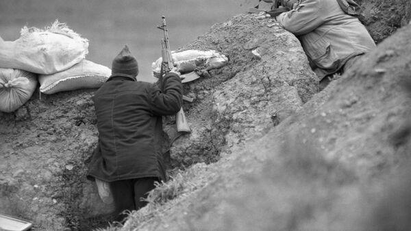 Боец, архивное фото - Sputnik Абхазия
