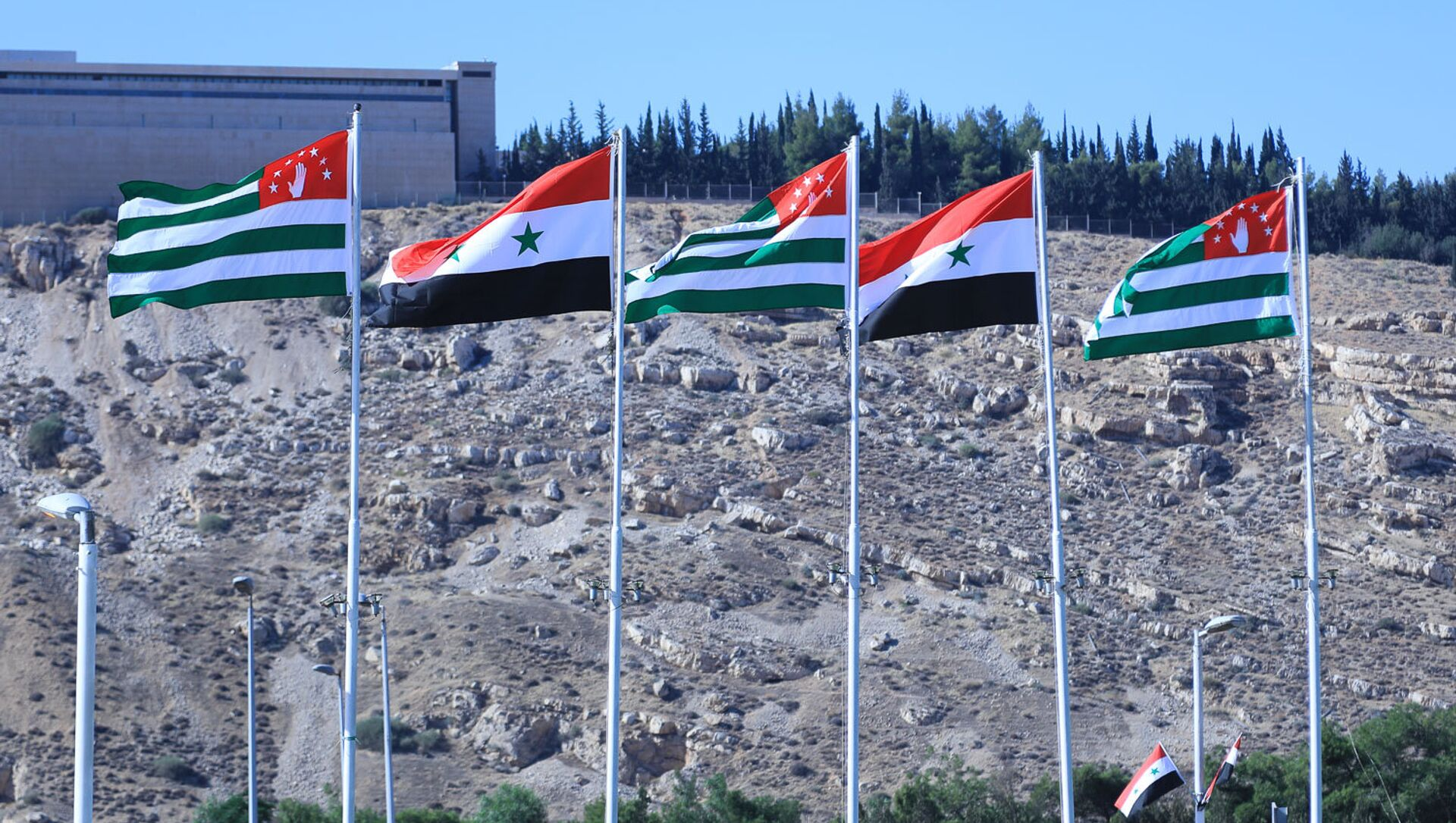 Флаги Сирии и Абхазии - Sputnik Аҧсны, 1920, 10.09.2021