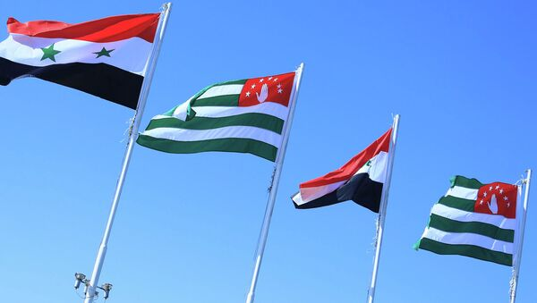 Флаги Сирии и Абхазии - Sputnik Аҧсны