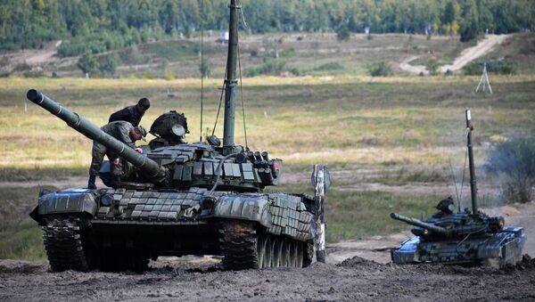 Учения танковых войск Восточного военного округа - Sputnik Аҧсны