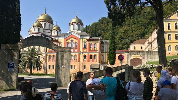 Экскурсия в Новом Афоне в рамках тура Золотое кольцо Абхазии - Sputnik Аҧсны