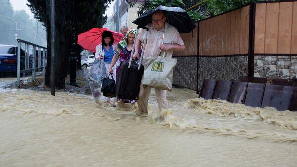 Сочи затопило из-за проливных дождей - Sputnik Абхазия