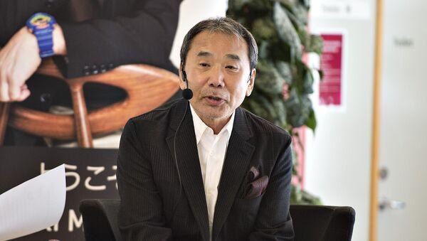 Японский писатель Харуки Мураками выступает в рамках визита в Данию в связи с присуждением литературной премии имени Андерсена - Sputnik Аҧсны