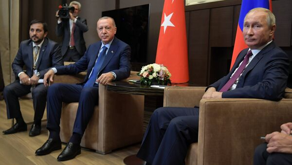 Президент РФ В. Путин встретился с президентом Турции Р. Т. Эрдоганом - Sputnik Аҧсны