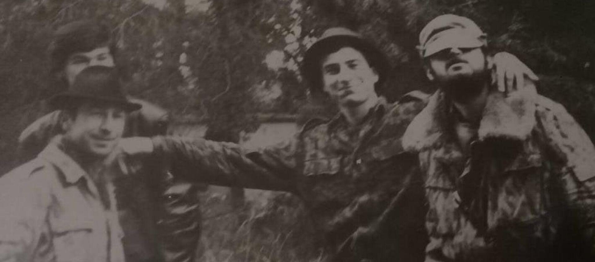 Заурбей Багателия с сослуживцами - Sputnik Абхазия, 1920, 26.09.2018