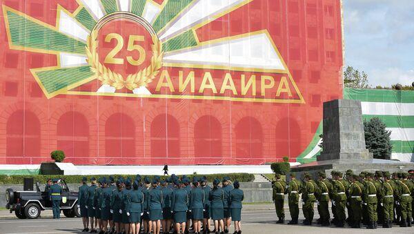 Генеральная репетиция парада Победы в Отечественной войне народа Абхазии на площади Свободы - Sputnik Абхазия