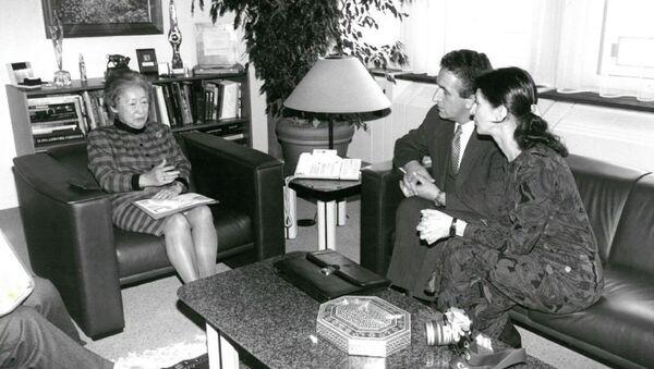 Встреча с верховным комиссаром ООН по делам беженцев Садако Огатой в Женеве 1997 год - Sputnik Абхазия
