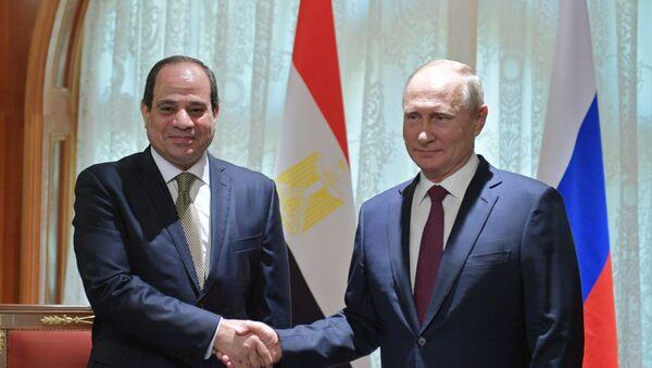 Президент РФ В. Путин встретился с президентом Египта А. Сиси - Sputnik Абхазия