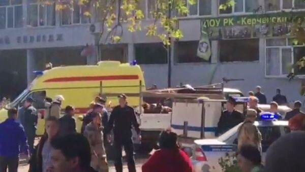 Взрыв в колледже в Керчи. Кадры с места происшествия - Sputnik Абхазия