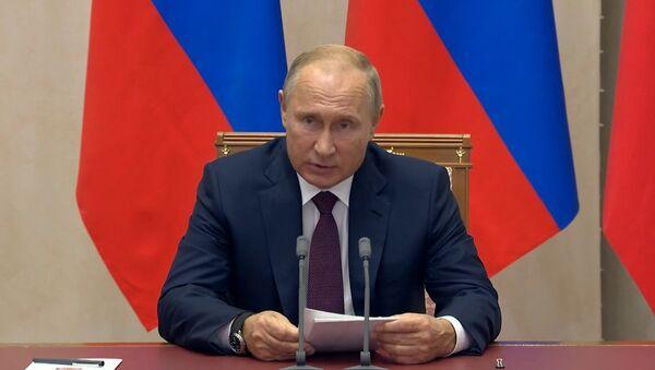 Владимир Путин о трагедии в Керчи - Sputnik Абхазия