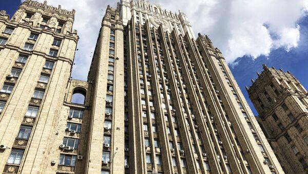 Здание министерства иностранных дел РФ на Смоленской-Сенной площади в Москве. - Sputnik Абхазия