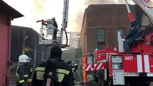 Пожар на заводе «Электроцинк» во Владикавказе - Sputnik Абхазия