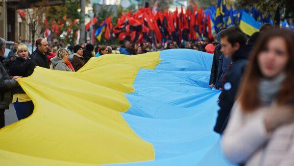 Акции в украинских городах в День защитника Украины - Sputnik Абхазия