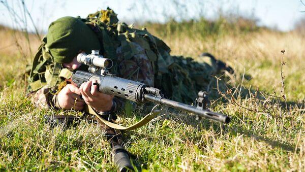 Российские снайперы ЮВО в Абхазии - Sputnik Абхазия