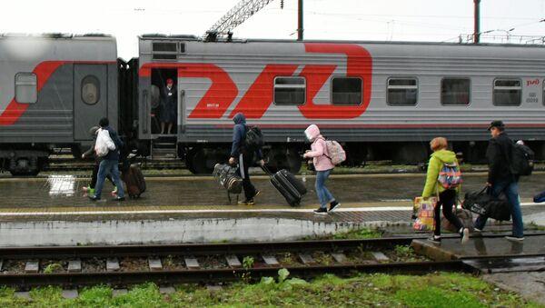 Ситуация на железнодорожной станции Горячий Ключ в Краснодарском крае - Sputnik Абхазия