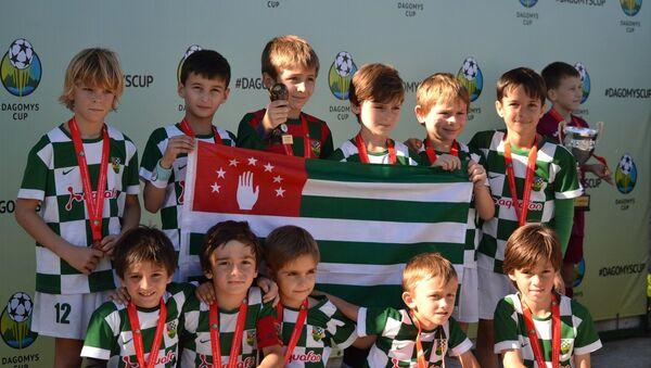 Детская и юношеская команды Нарты из Сухума на Международном турнире по футболу DAGOMYS CUP, архивное фото - Sputnik Абхазия