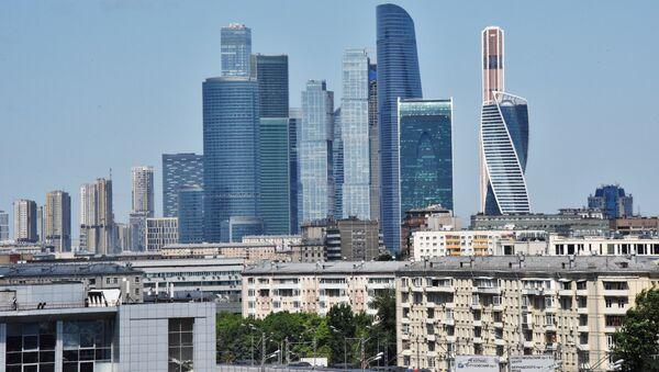 Небоскребы Московского международного делового центра Москва-сити - Sputnik Абхазия
