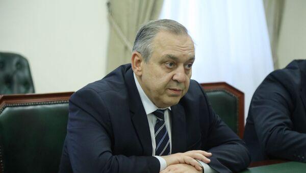 Встреча президента Абхазии Рауля Хаджимба с Георгием Мурадовым - Sputnik Абхазия