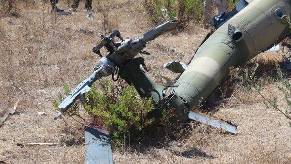 Кадры осмотра мест крушения самолета СУ-24М и спасательного вертолета в Сирии в 2015 году. - Sputnik Аҧсны