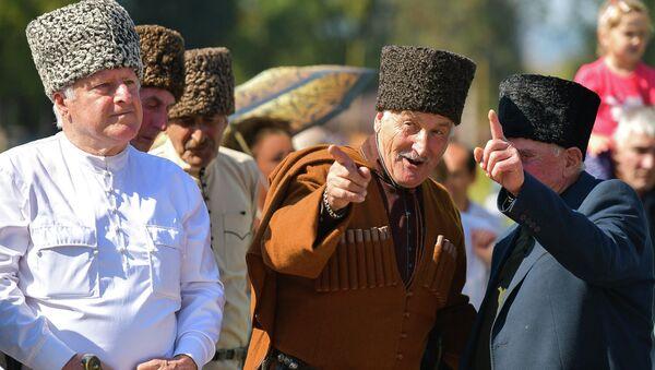 Праздник урожая и молодого вина на поляне Лыхнашта  - Sputnik Абхазия