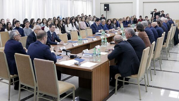 Научно-практическая конференция, посвящённая 25-летию со дня создания министерства экономики Абхазии, 12 декабря 2018 - Sputnik Абхазия