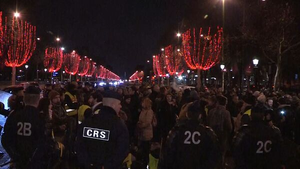 СПУТНИК_Протесты полицейских в Париже - Sputnik Абхазия