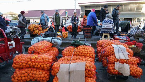 Продажа мандаринов на границе России и Абхазии в Краснодарском крае - Sputnik Абхазия