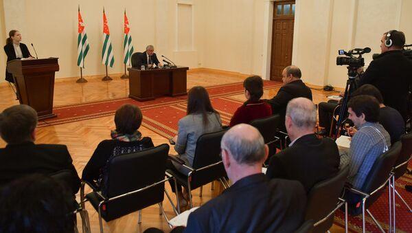 Итоговая пресс-конференция президента Абхазии Рауля Хаджимба - Sputnik Абхазия