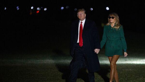 Первая леди США Меланья Трамп и Дональд Трамп - Sputnik Абхазия