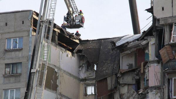 Ситуация на месте взрыва бытового газа в жилом доме в Магнитогорске - Sputnik Абхазия