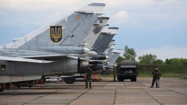 Самолеты Су-24МР и Су-24М украинских ВВС. Архивное фото - Sputnik Аҧсны