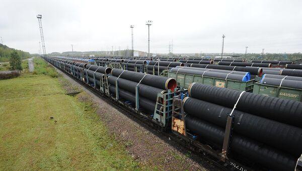 Отгрузка труб для строительства трубопровода Северный поток-2. Архивное фото - Sputnik Абхазия