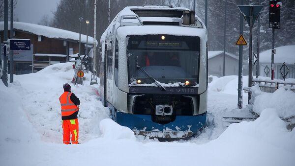 Снегопад в Германии - Sputnik Абхазия