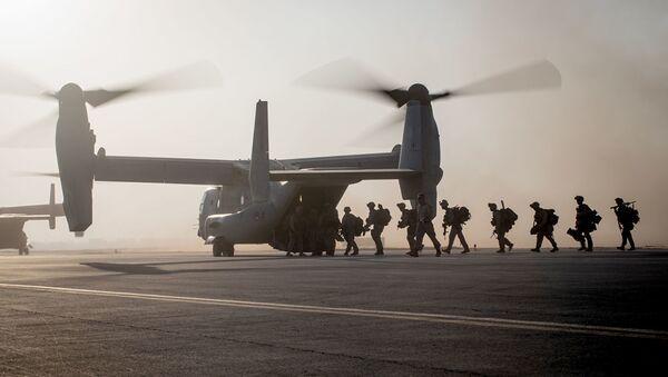 Военнослужащие 7-го полка морской пехоты США в Сирии. Архивное фото - Sputnik Абхазия