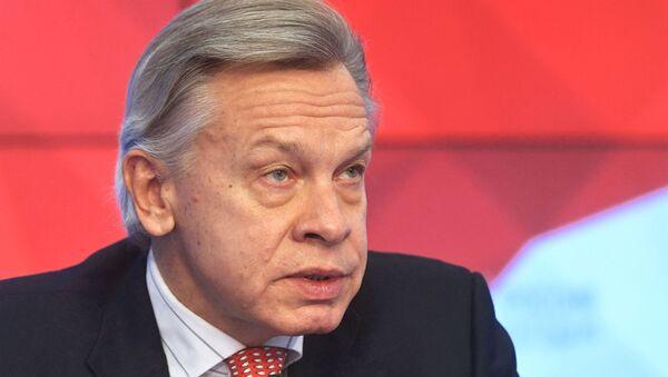 Председатель комиссии Совета Федерации РФ по информационной политике Алексей Пушков - Sputnik Абхазия