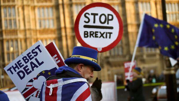 Участники акции против Brexit у здания парламента Великобритании в Лондоне. 17 января 2019 - Sputnik Абхазия