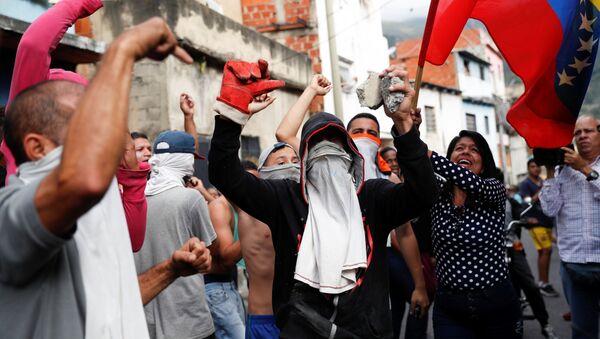 Протестующие в Каракасе, Венесуэла - Sputnik Аҧсны