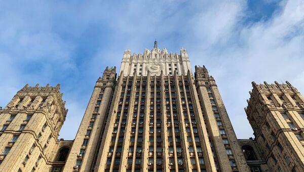 Здание министерства иностранных дел РФ на Смоленской-Сенной площади в Москве - Sputnik Абхазия
