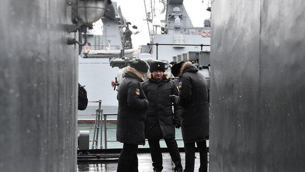 БПК Североморск прибыл в порт Севастополя - Sputnik Абхазия