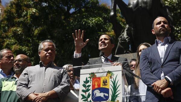 Лидер оппозиции Венесуэлы Хуан Гуаидо выступил на митинге в Каракасе  - Sputnik Абхазия