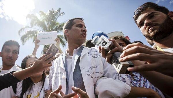 Венесуелатәи аоппозиционер Хуан Гуаидо - Sputnik Аҧсны