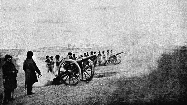 Артиллерийский бой во время Русско-японской войны - Sputnik Абхазия