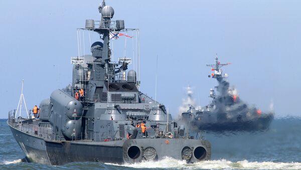 Выход кораблей Балтийского флота в море в рамках учений Запад-2017 - Sputnik Абхазия