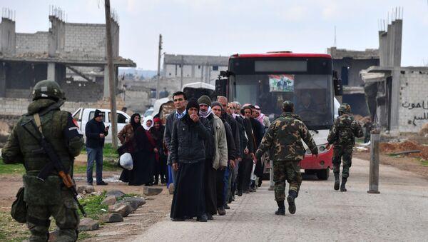 Гуманитарный коридор Абу-Духур в провинции Идлиб - Sputnik Абхазия