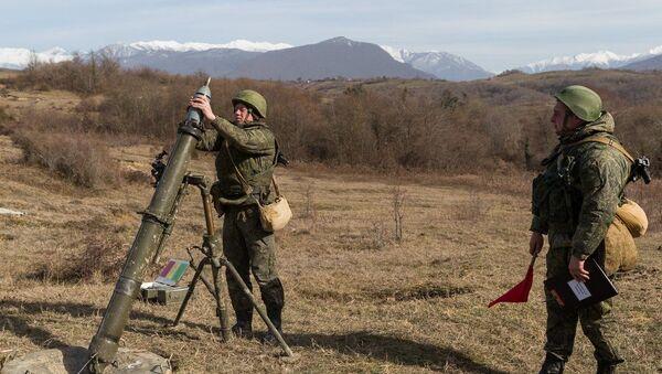 Артиллеристы ЮВО выполнили боевые стрельбы из «Кочующих минометов» - Sputnik Абхазия