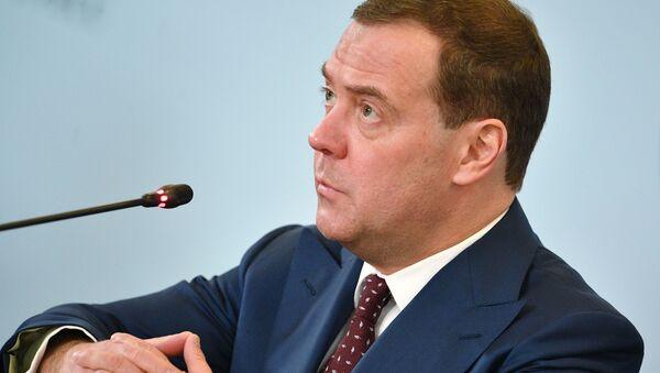 Премьер-министр РФ Д. Медведев принимает участие в работе Российского инвестиционного форума Сочи-2019 - Sputnik Абхазия
