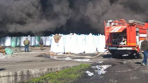 Возгорание склада рыбзавода в Очамчыре, 4 марта 2019 - Sputnik Аҧсны